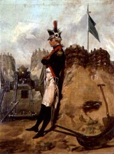 Alexander Hamilton in the Uniform of the New York Artillery