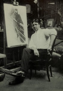 Harrison Fisher in his studio (around 1905)